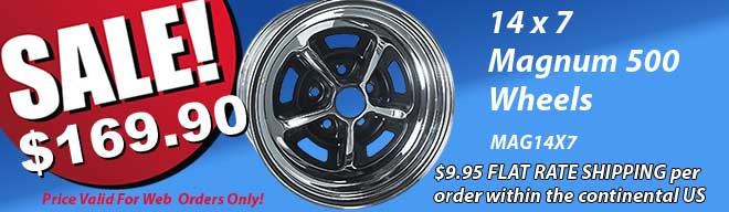Save on shipping on the 14 x 7 Mag Wheels
