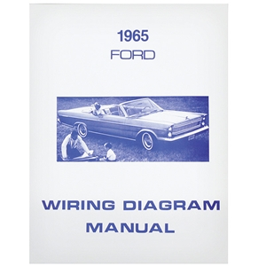 1965 FORD WIRING DIAGRAM MANUAL COVERS GALAXIE CUSTOM 500 XL LTD ELECTRICAL  SCHEMATICS REPRINT SOFTBOUND 28 PGS (MP135)Auto Krafters