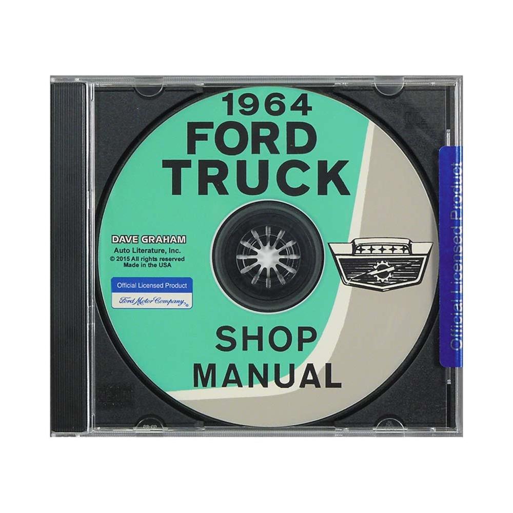 CD - SHOP MANUAL 1964 FORD PICKUP TRUCKS ECONOLINE (CD64FDTR)