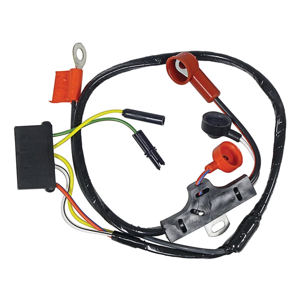 WIRING HARNESS 1971 FORD MUSTANG COUGAR TORINO MAVERICK NO INSTRUMENT PACK  OR GAUGES ALT-VOLT ...