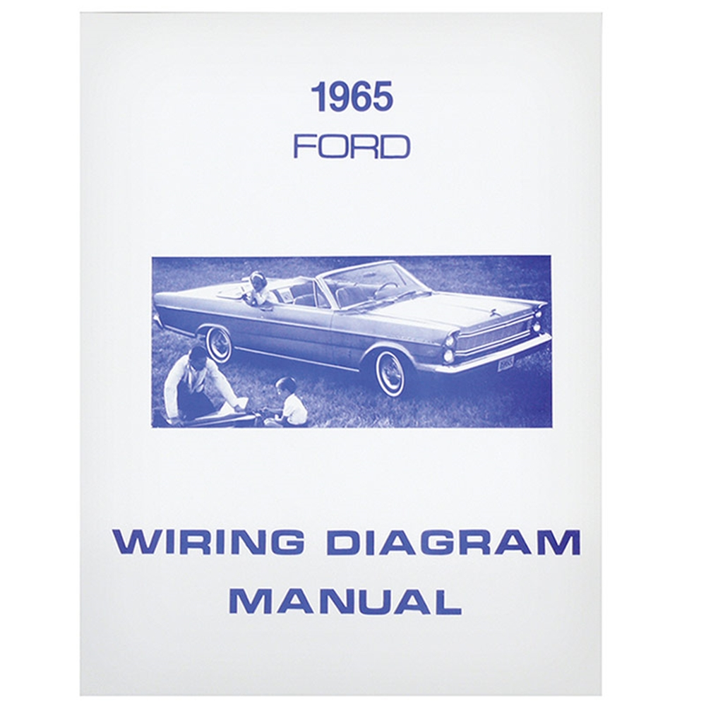 1965 ford wiring schematic 1965 ford wiring diagram manual covers galaxie custom 500 xl ltd  1965 ford wiring diagram manual covers
