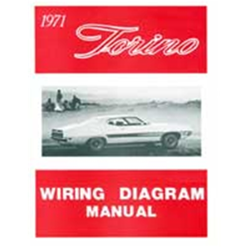 1971 torino wiring diagram manual ford 500 brougham squire gt cobra routing  schematics reprint softbound 8