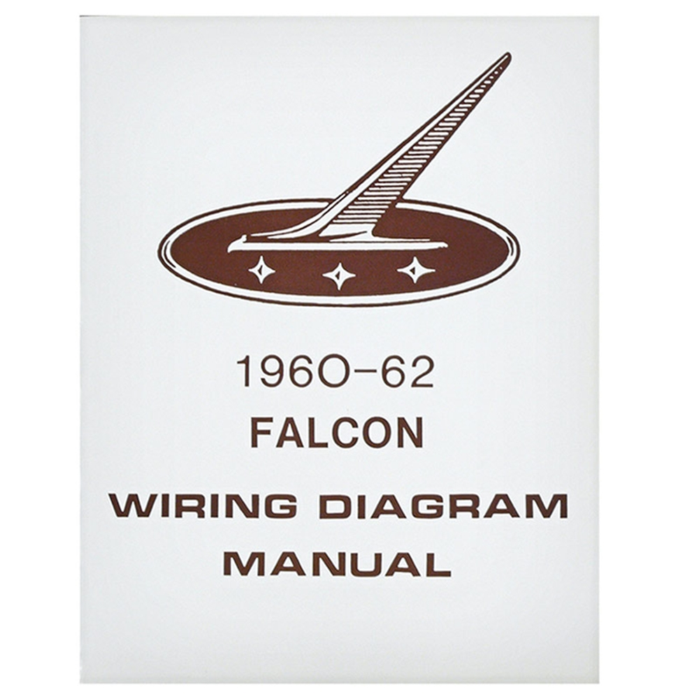 1960-62 falcon wiring diagram manual ford sedan station wagon routing  schematics reprint softbound 4 pages