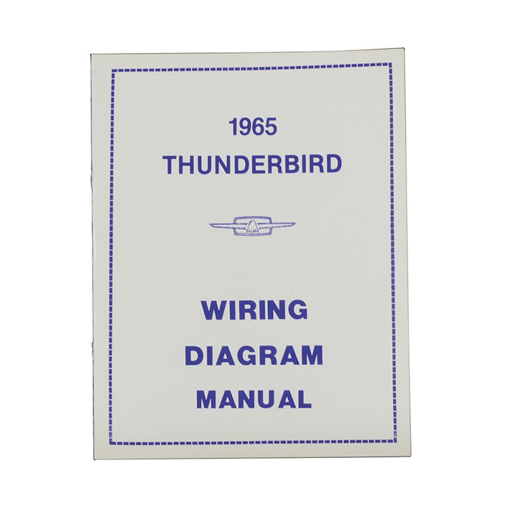 WIRING DIAGRAM MANUAL - 65 THUNDERBIRD