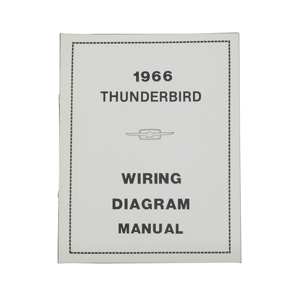 1966 thunderbird wiring diagram manual reprint ford factory wire color  codes gauges repair softbound 20 pages
