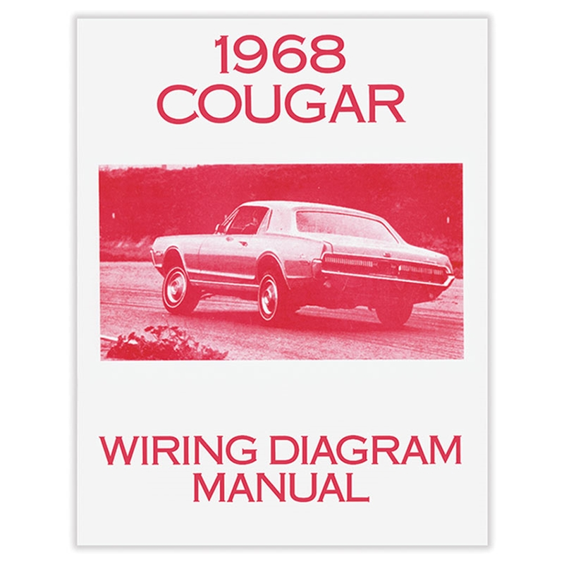 1968 COUGAR WIRING DIAGRAM MANUAL REPRINT FORD SCHEMATICS WIRE COLORS  ELECTRICAL REPAIR MERCURY XR7 SFTBND 20Auto Krafters