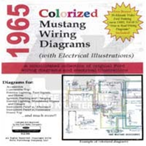 cd 65 mustang colorized wiring diagram