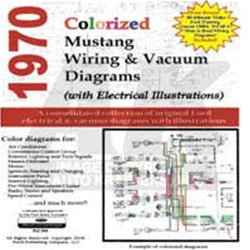 cd 70 mustang colorized wiring vacuum diagram rh autokrafters com Ford Mustang Parts Ford Mustang Parts