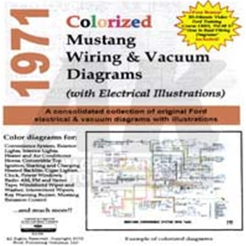 1971 ford mustang cd 71 mustang colorized wiring vacuum diagram 1971 Mustang Tach Wiring Diagram  1970 Chevelle Horn Diagram 1972 mustang wiring diagram 67 Mustang Alternator Wiring Diagram
