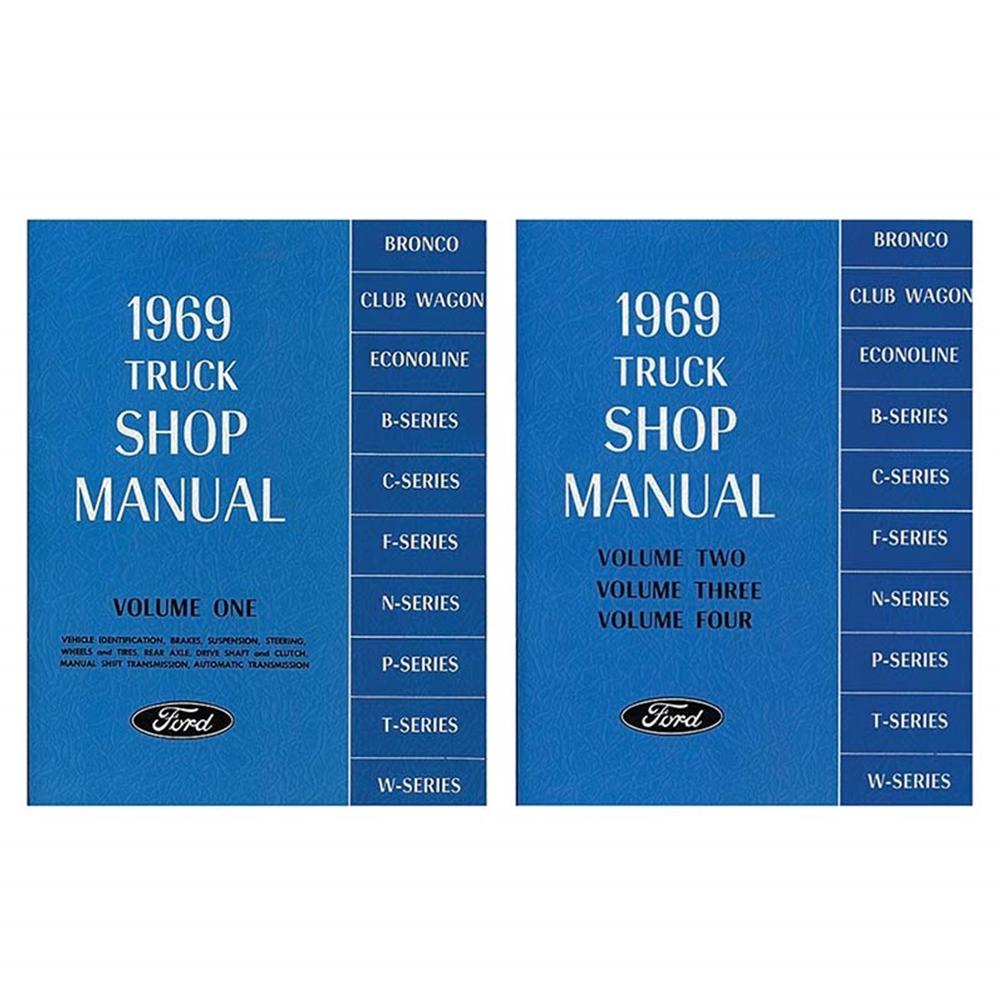 1969 TRUCK SHOP MANUAL FORD F-SERIES F-100 F-250 F-350 PICKUP 2-BOOK ...