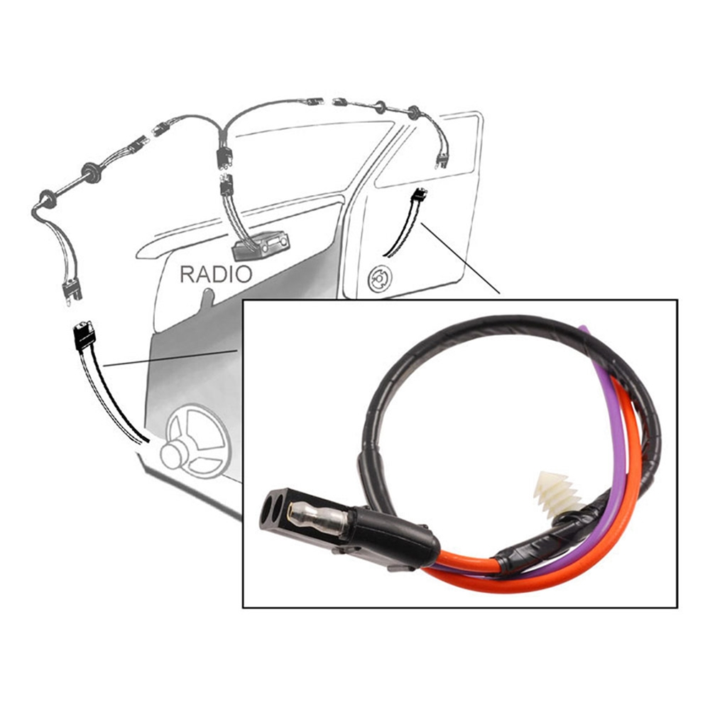 79 Ford F 250 Wiring Simple Electrical Diagram 73 1975 100 Wire Speaker To Door Harness 1973 Series 150
