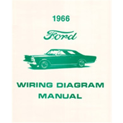 1966 ford wiring diagram manual covers galaxie custom 500 xl ltd 7-litre  schematics reprint softbound