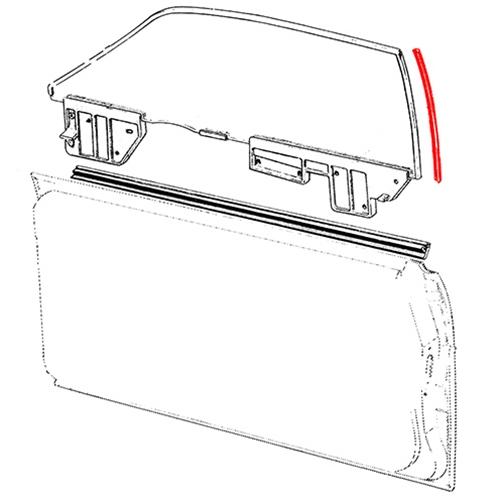 /& gt93 Nouvelle aile en verre miroir Ford Sierra côté passager 84