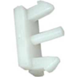 GRILLE MOULDING CLIPS 1973 FORD MUSTANG HARDTOP FASTBACK AND CONVERTIBLE GRANDE MACH 1 RETAINERS WHITE (D3ZZ-8B251)