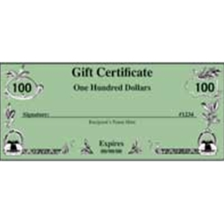 $100.00 AUTO KRAFTERS GIFT CERTIFICATE