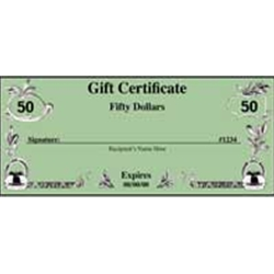 $50.00 AUTO KRAFTERS GIFT CERTIFICATE