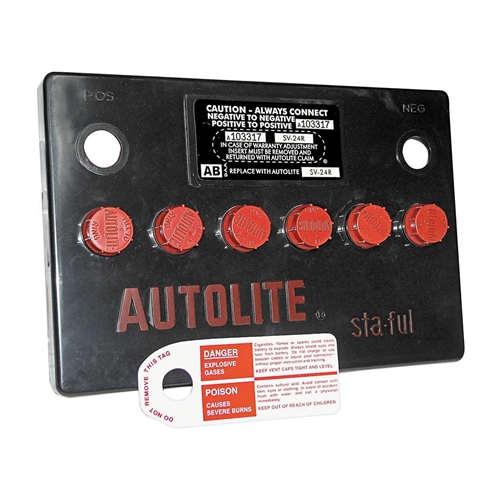 BATTERY TOP COVER 1964-73 FORD MUSTANG 1965-70 FALCON 1966-70 FAIRLANE & MORE AUTOLITE 24F FLAT-TOP STA-FUL (24FCOVER)