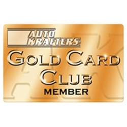 GOLD CARD MEMBERSHIP AUTO KRAFTERS CLUB 1-YEAR (GOLDCARD1)