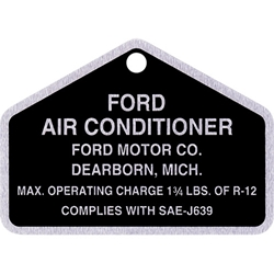 A/C COMPRESSOR TAG 1964-76 FORD F-100 64-75 GALAXIE 64-70 FAIRLANE FALCON 1964.5 MUSTANG 67-68 COUGAR W/AIR COND (DF351)
