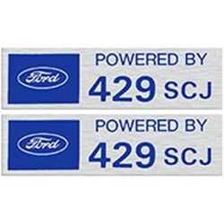 VALVE COVER DECALS POWERED BY 429SCJ