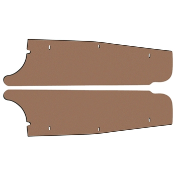 TRUNK FILLER BOARDS 1964 MERCURY COMET SEDAN HARDTOP CONVERTIBLE WHEELHOUSE-TO-RR BODY PANEL SIDE-EXTENSION PAIR (F156)