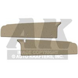 TRUNK FILLER BOARDS 1966-67 MERCURY COMET AND CYCLONE 2-DOOR WHEELHOUSE-TO-RR BODY PANEL SIDE-EXTENSION PAIR (F158)