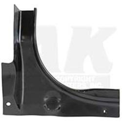TRUNK CORNER 1967-68 FORD MUSTANG HARDTOP FASTBACK CONVERTIBLE SHELBY COBRA GT LEFT-HAND DRIVER SIDE (M242L)