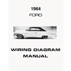 1964 ford wiring diagram manual covers galaxie custom 500 xl ltd electrical  schematics reprint softbound 12