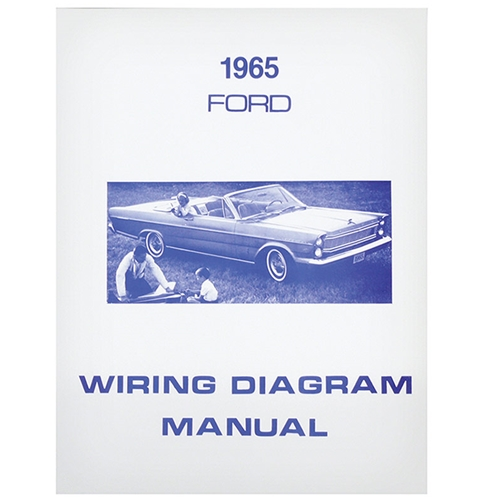 1965 Ford Galaxie 500 WIRING DIAGRAM - 65 FORD