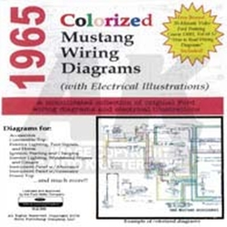 cd 65 mustang colorized wiring diagram. Black Bedroom Furniture Sets. Home Design Ideas