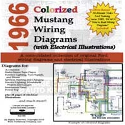 cd 66 mustang colorized wiring diagram