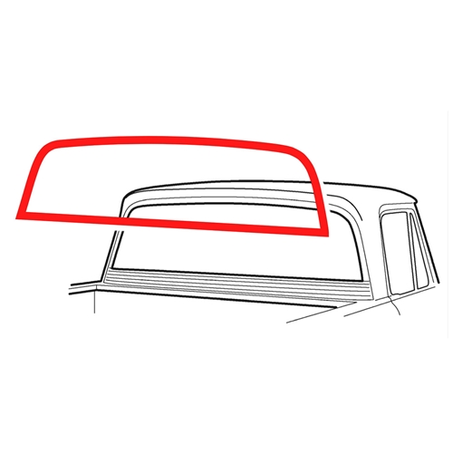 BACK GLASS WEATHERSTRIP 1961-63 FORD F-100 F-250 UNIBODY PICKUP TRUCK WITH WRAP-AROUND REAR WINDOW SEAL (C1TZ-6642084)
