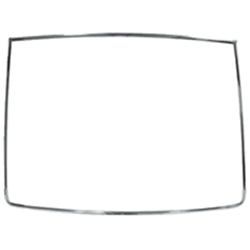 BACK GLASS MOULDING 1967-68 FORD MUSTANG FASTBACK 2+2 COUPE PONY 6-PIECE REAR WINDOW EXTERIOR TRIM SET (C7ZZ-6342404A)