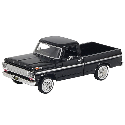1:24 SCALE MODEL 1969 FORD F-SERIES F-100 PICKUP TRUCK DIE-CAST BLACK SIDE MOULDINGS EMBLEMS COLLECTIBLE (SC79315/16BLK)