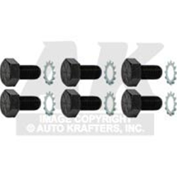 FLEXPLATE BOLTS AND WASHERS SET OF 6 1960-96 FORD AUTOMATIC (6711)