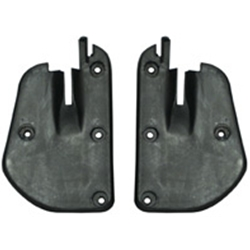 BACK EDGE OF DOOR SEAL 1967-68 FORD MUSTANG AND MERCURY COUGAR RUBBER LH RH PAIR WITH SCREWS (C7ZZ-6520588-9)