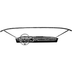 WINDSHIELD GARNISH MOLDING TO DASH SEAL 1960-64 GALAXIE (C0AB-6403127A)