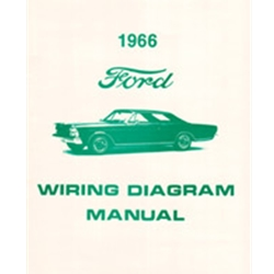 1966 FORD WIRING DIAGRAM MANUAL COVERS GALAXIE CUSTOM 500 XL LTD 7-LITRE SCHEMATICS REPRINT SOFTBOUND 10 PAGES (MP136)