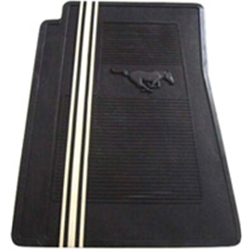 1971 ford mustang pony mats black w white stripe for 1967 ford mustang floor mats