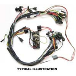 wiring harness under dash 1964 ford falcon with 1-speed windshield wiper  motor futura sprint