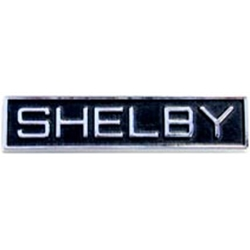 EMBLEM SHELBY RECTANGLE 1969-70 FORD MUSTANG GT-350 GT-500 GRILLE & HT REAR ROOF SAIL OR CONV QTR PANEL (C9ZZ-6325622B)