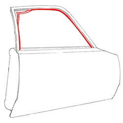 DOOR GLASS RUN 1970-77 FORD MAVERICK AND COMET SEDAN GRABBER WEATHERSTRIP FRONT OR REAR 10-FOOT PIECE (D1DZ-5421596)