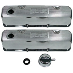 VALVE COVERS POLISHED ALUMINUM BOSS302/351C/351M/