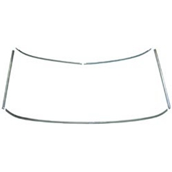 WINDSHIELD MOULDING 1965-68 FORD MUSTANG 1967-68 COUGAR HARDTOP FASTBACK CONVERTIBLE 5-PIECE SET (C5ZZ-65031KIT)