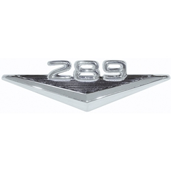 """289"" FENDER EMBLEM 1963-64 FORD FAIRLANE 65-66 MUSTANG 65 FALCON COMET 66-68 BRONCO BLACK STRIPES CHROME (C3OZ-16228B)"