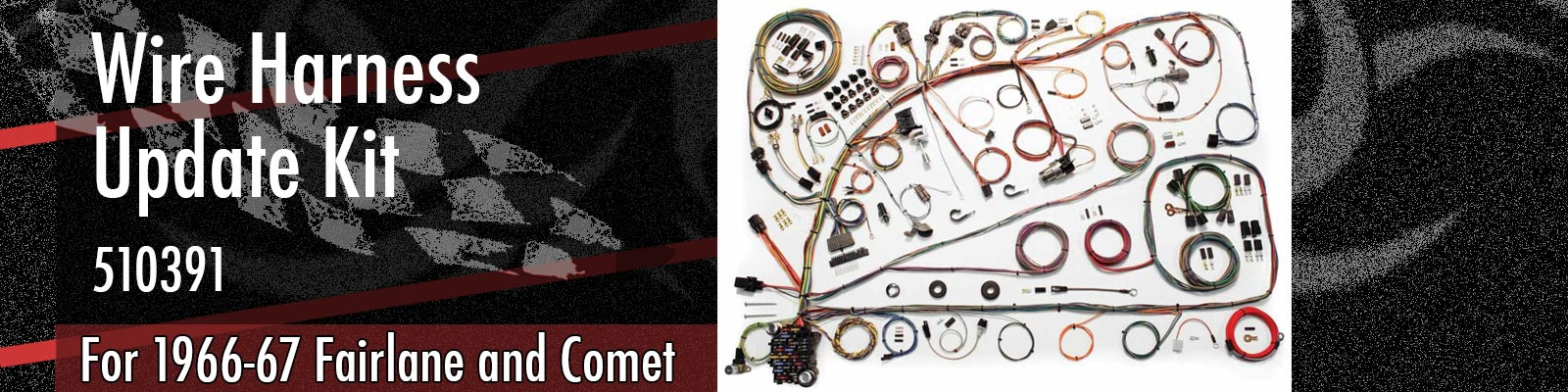 1966-67 Ford Fairlane and Mercury Comet Wiring Harness 510391
